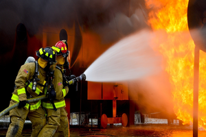 building fire, premises injury Vegas